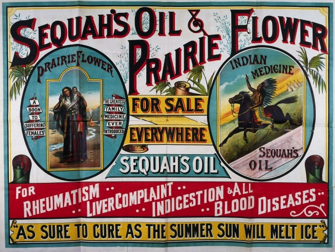L0016610 Advertisement for Sequah's Oils and prarie Flower.